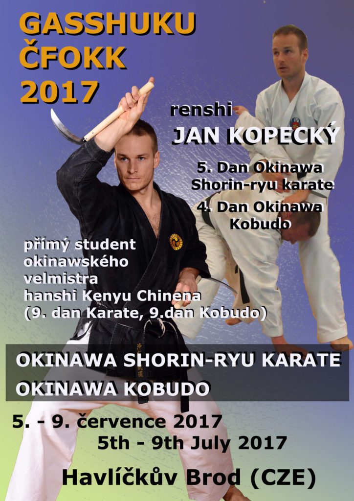 Národní letní Gasshuku ČFOKK - Okinawa Shorin-ryu Karate a Okinawa Kobudo